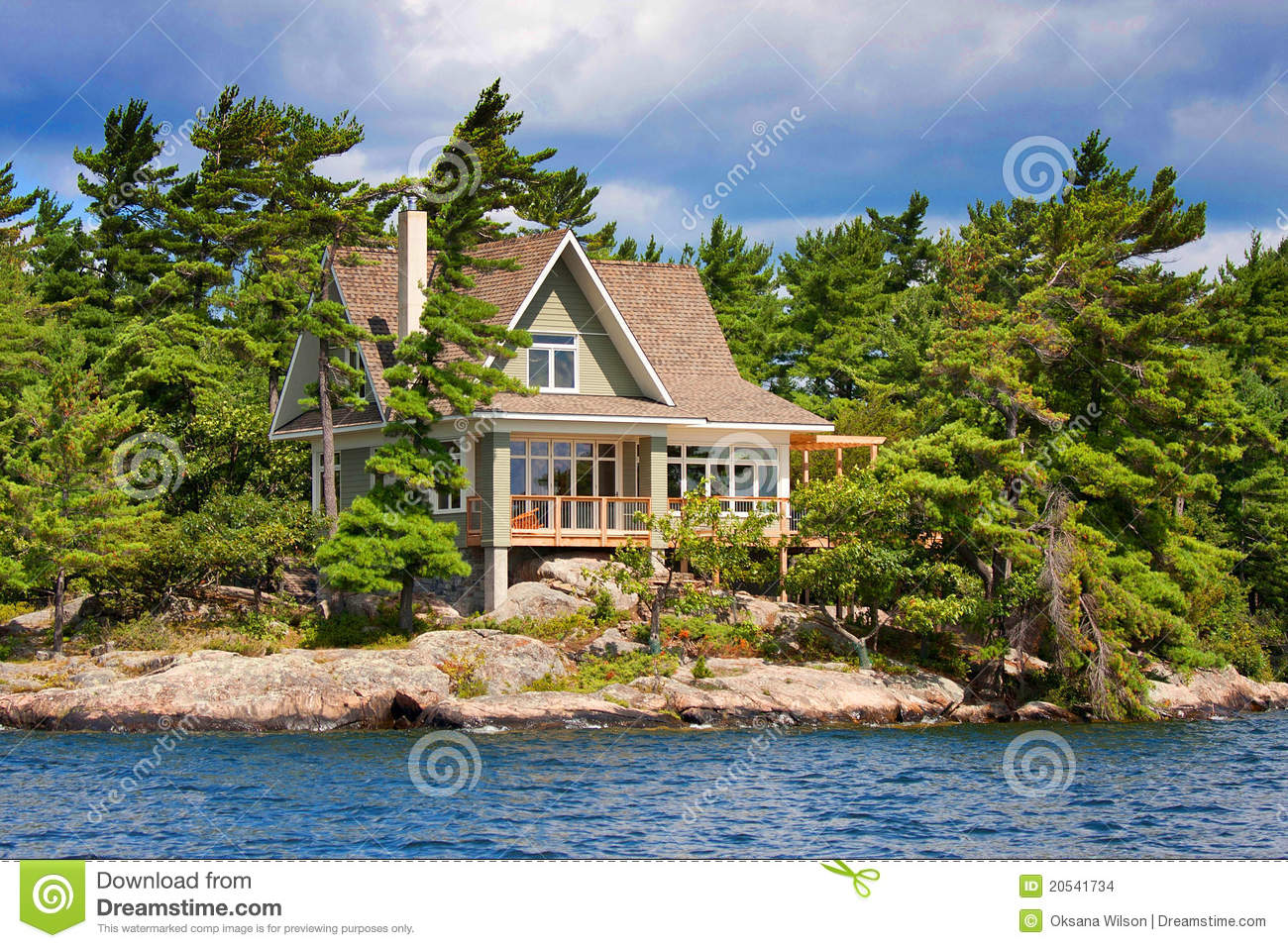 Wooden cottage on the lake stock photo image of estate for Summer lake