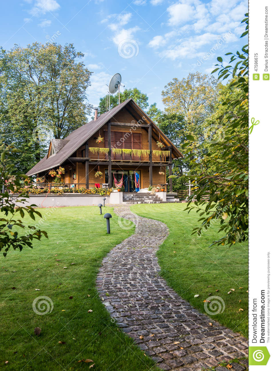 Home Time Road Roblox Id: Wooden Country House Stock Image. Image Of Nature, Stone