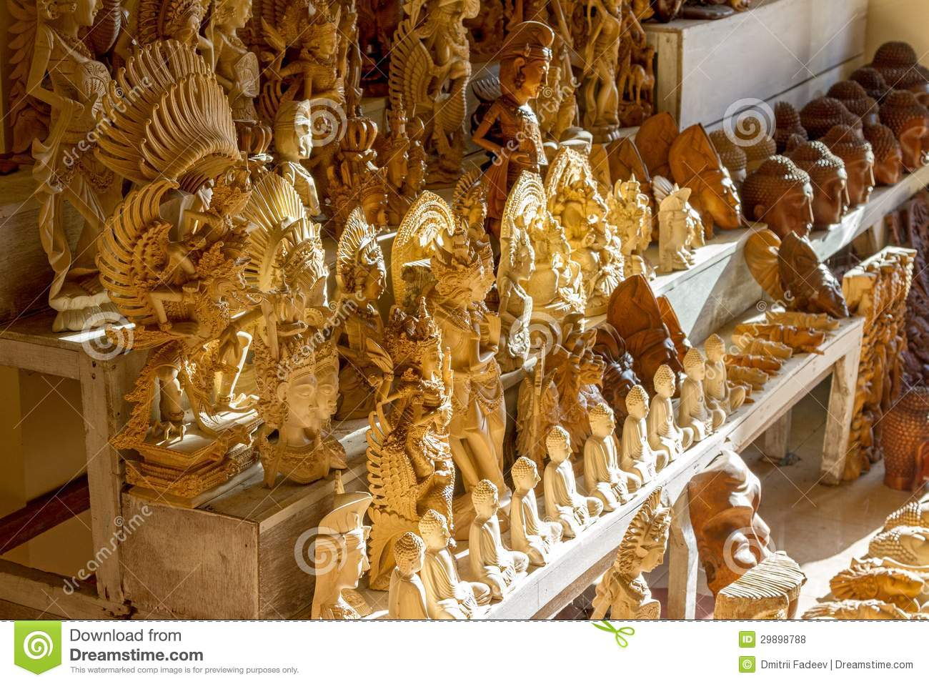 Wooden Crafts For Sale Stock Photo Image Of Bali Asia 29898788