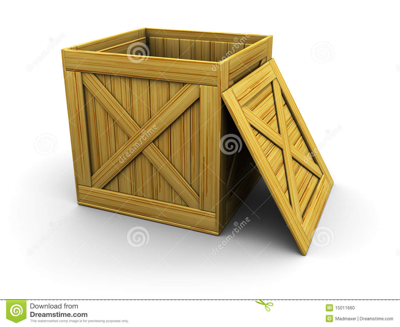 Wooden crate stock photo image 15011660 for Wooden chicken crate plans