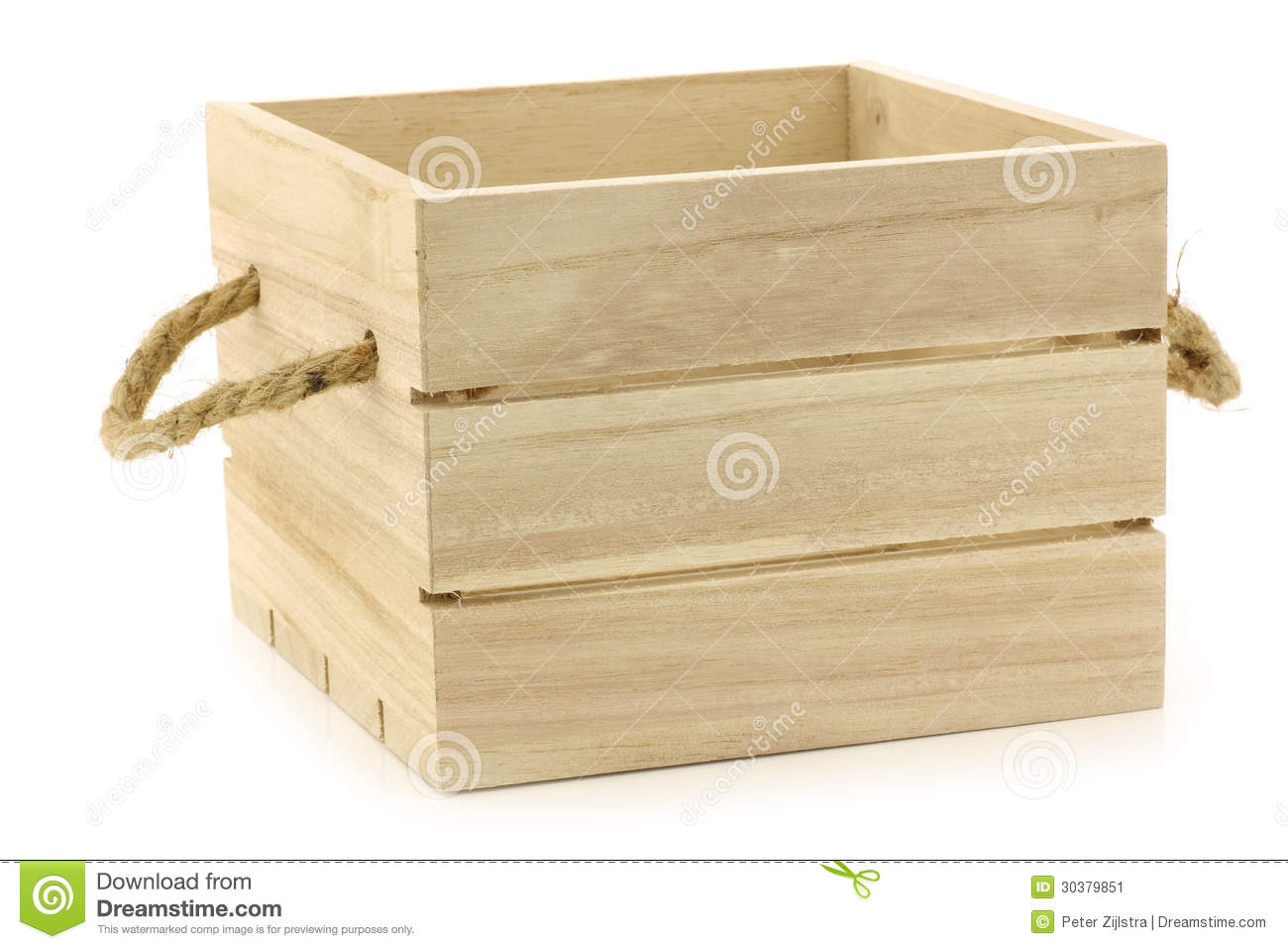 Wooden Crate With Handles Wooden Crate With Rope Handles Stock Image Image 30379851