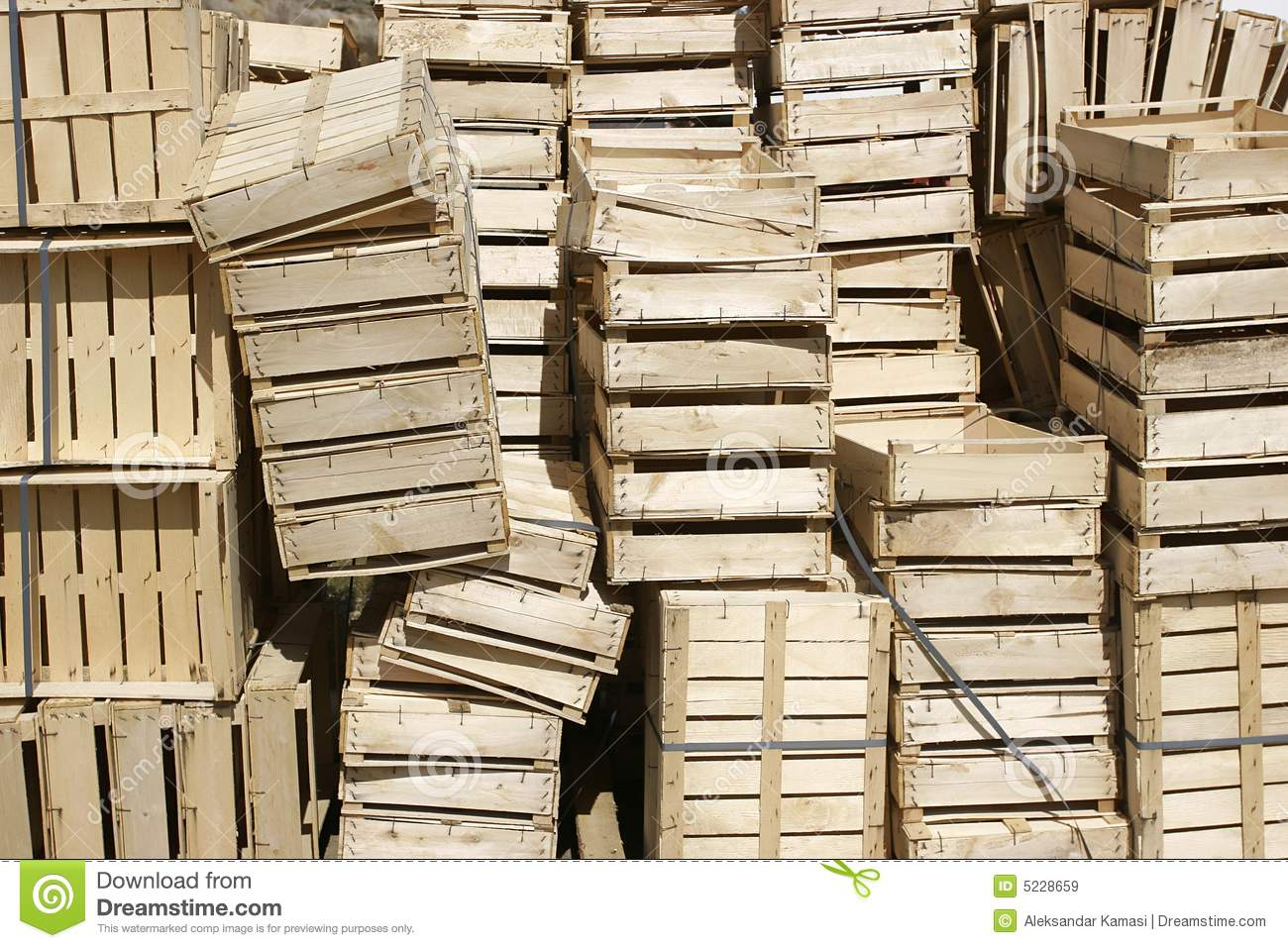 Wooden Crates Royalty Free Stock Images Image: 5228659 #81A229 1300x957