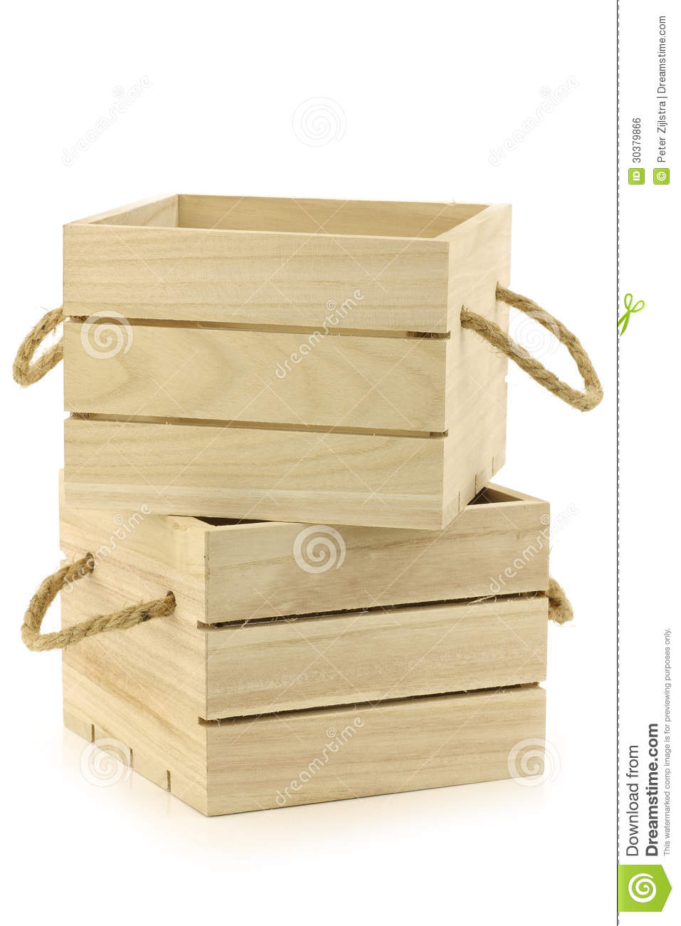 Wooden crates with rope handles royalty free stock image for Where to buy old crates