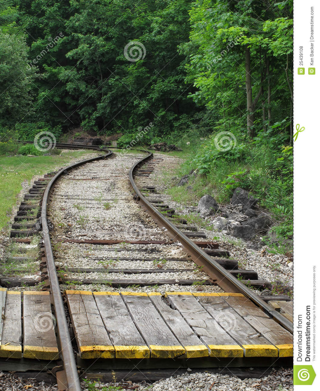 Wooden Crossing Over Railroad Tracks Stock Photo - Image of