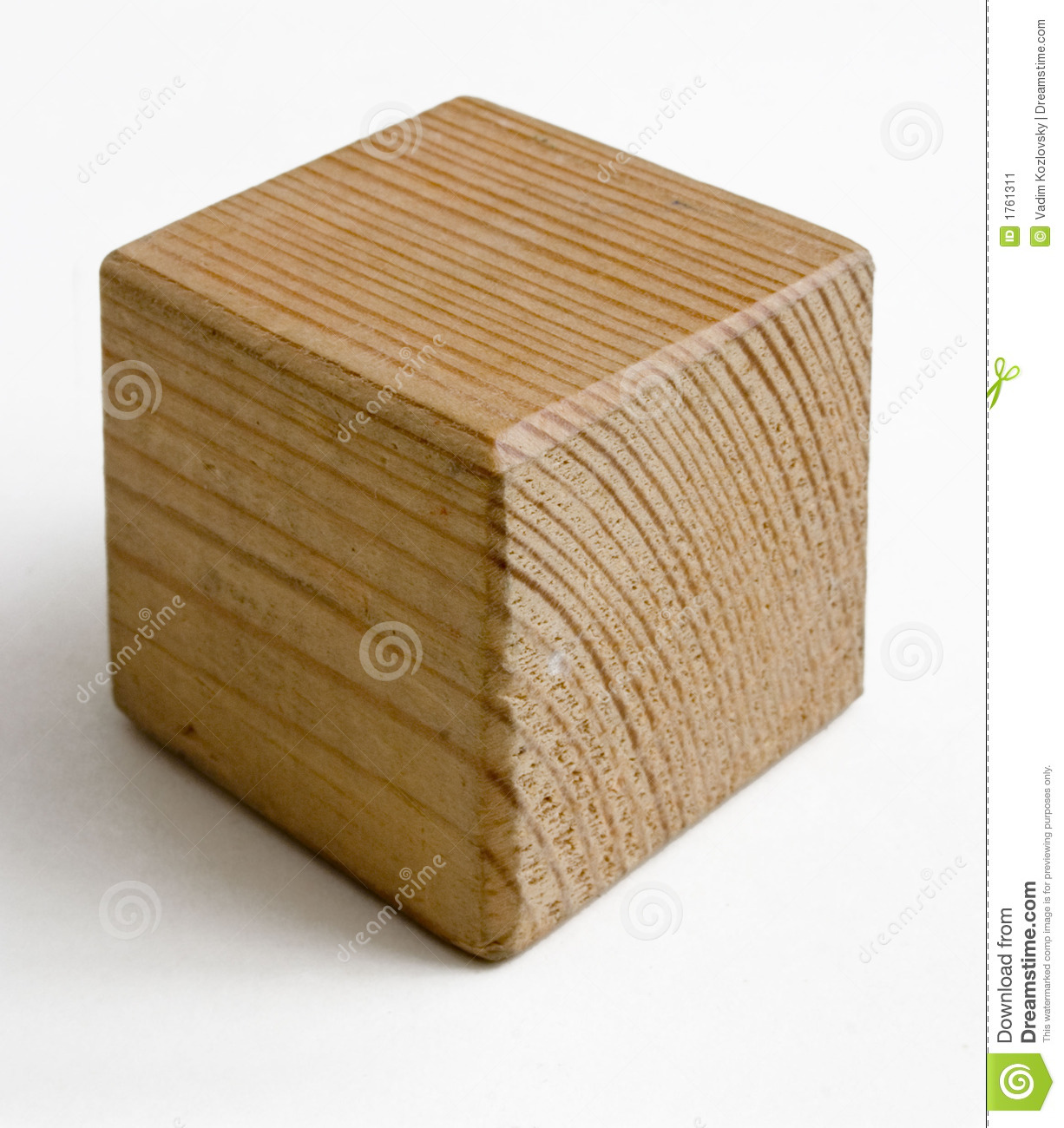 Wooden Cube Stock Image - Image: 1761311