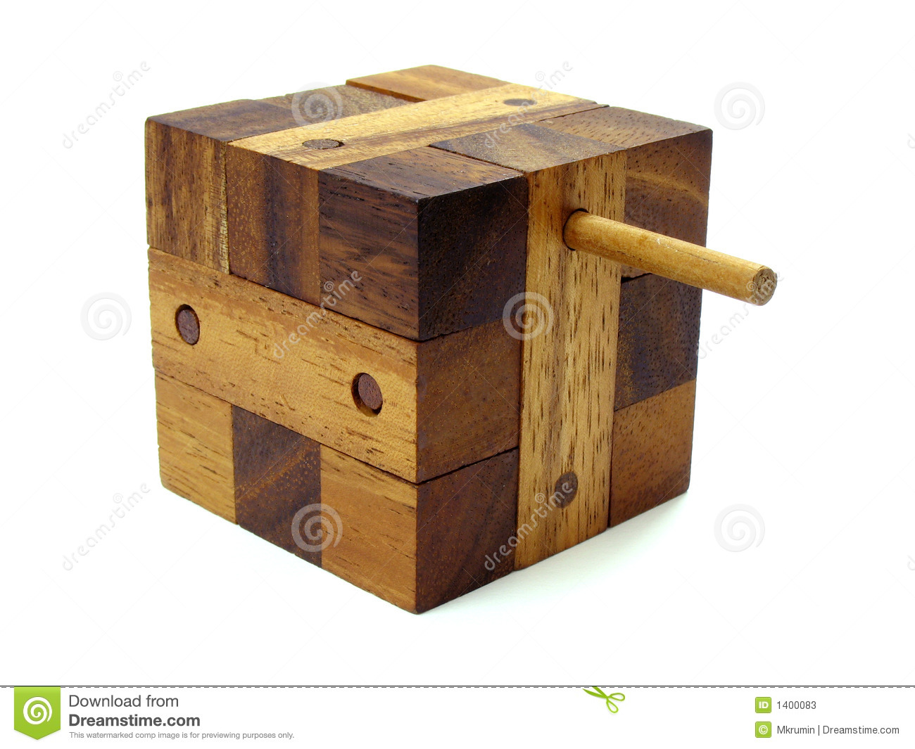 Wooden Cube Puzzle 2 Stock Photos - Image: 1400083