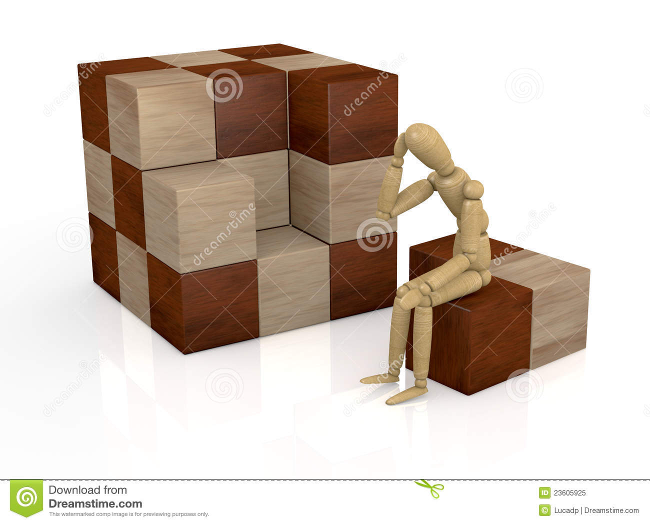 Wooden cube puzzle royalty free stock photo image 23605925 - Wooden cube house plans ...