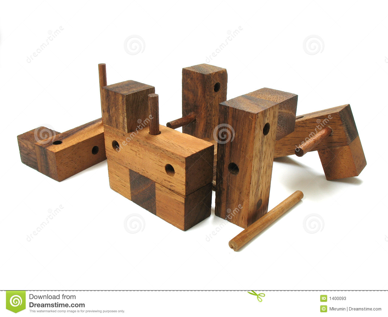 Wooden Cube Puzzle 6 Stock Image Image Of Wood Riddle 1400093