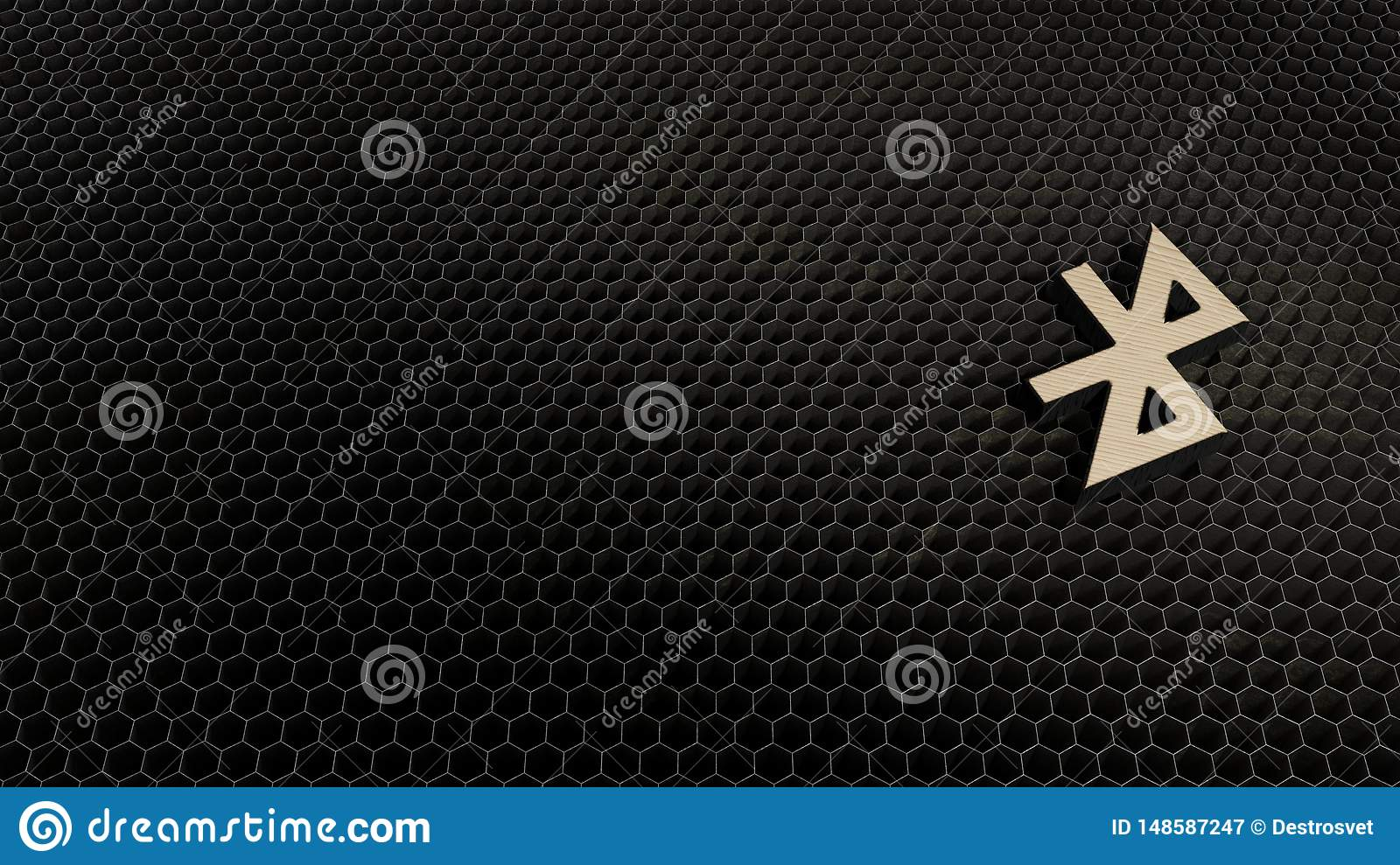 wooden 3d symbol of bluetooth icon render