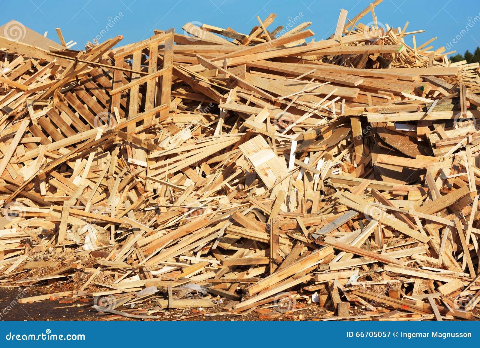 Pile Of Building Debris : Wooden debris stock photo image