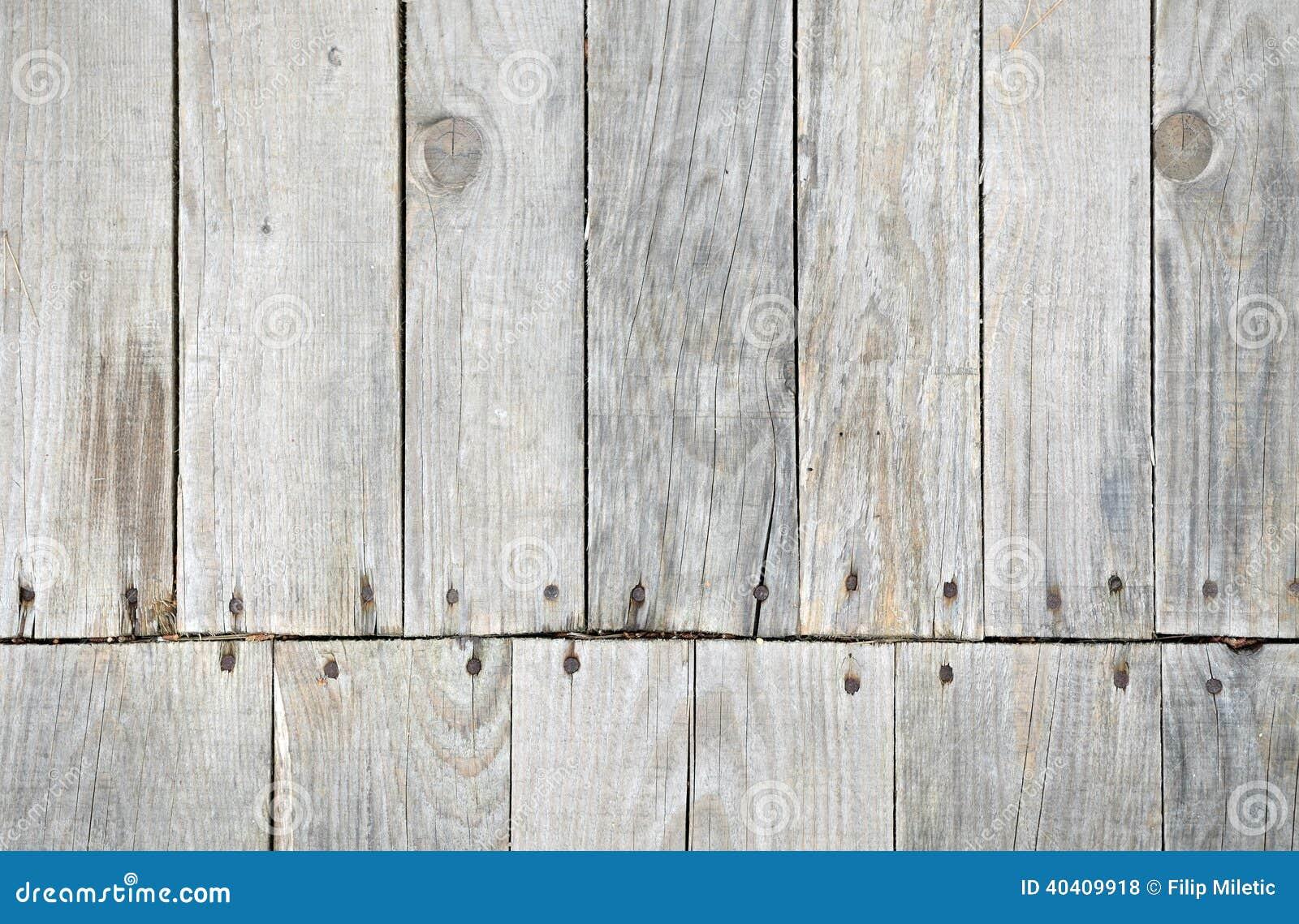 Wooden decking detail