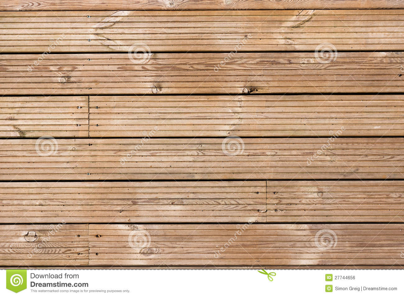 Wooden Decking Texture Pattern Stock Photo Image Of