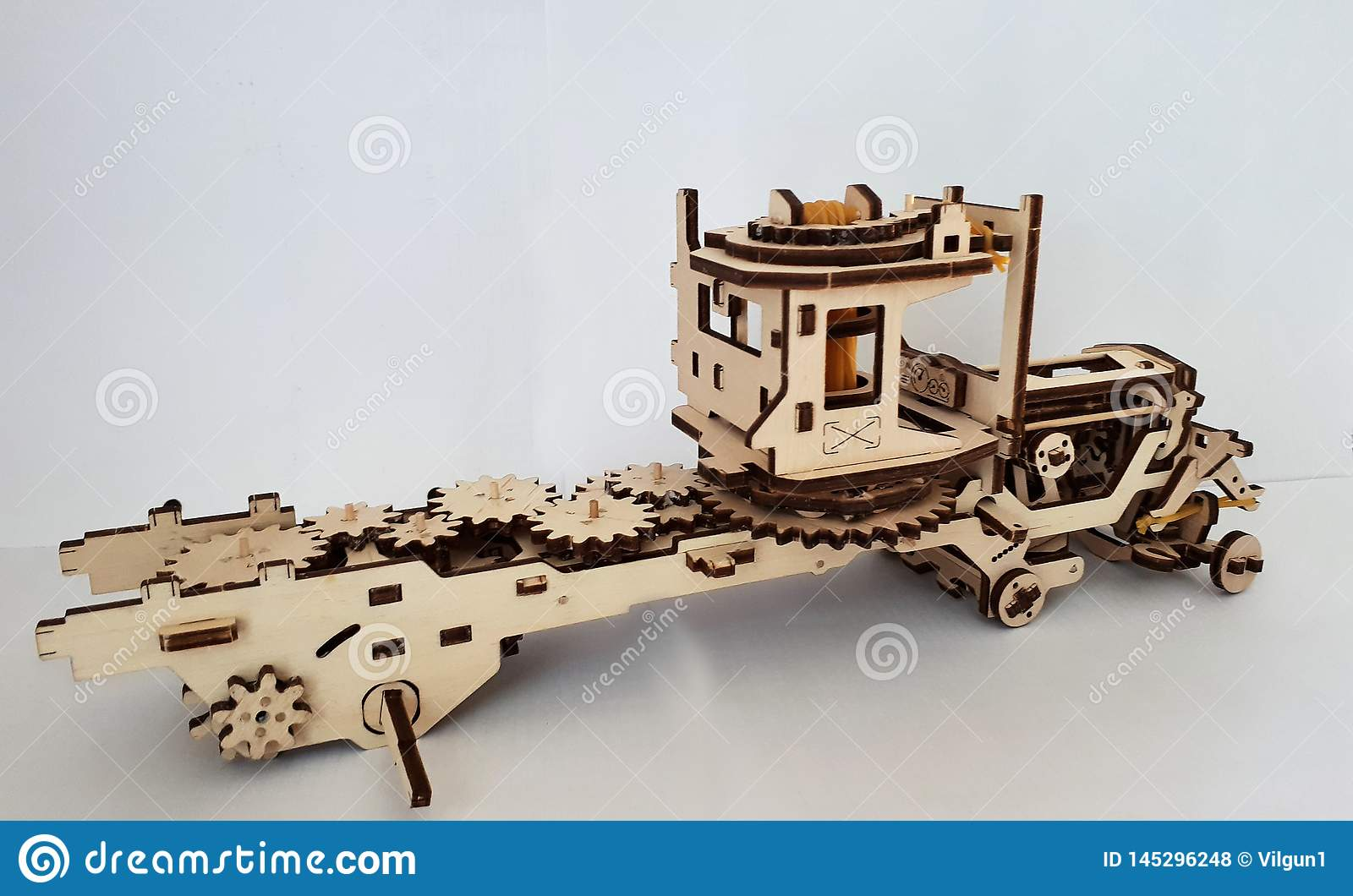 Wooden Designer Ugears  It Is A Model Of A Car Made Of Wood