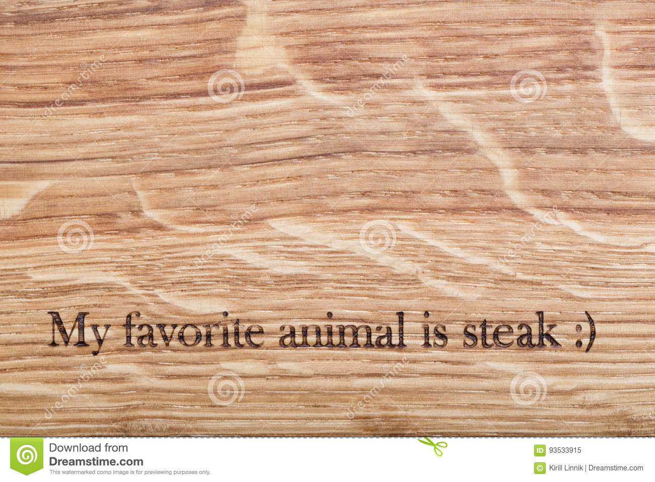 Download Wooden desk with a text stock image. Image of natural - 93533915