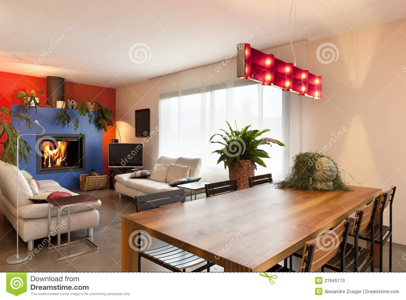 Wooden Dining Table Living Room Background Stock Photo Image Of Flat Table 21945170