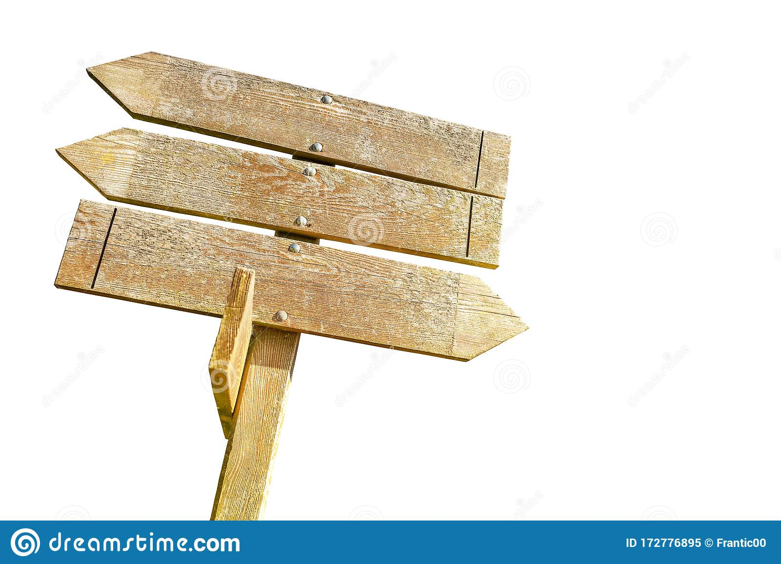Wooden Direction Blank Sign Post Stock Image - Image of ...