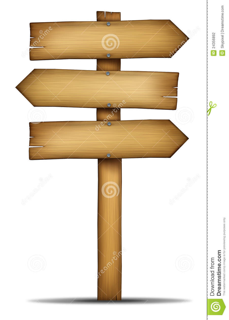 Wooden Directions Arrow Signs Stock Illustration Image