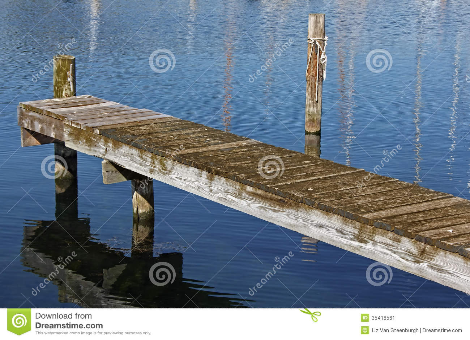 Wooden Dock stock image. Image of nobody, wooden, docks - 35418561