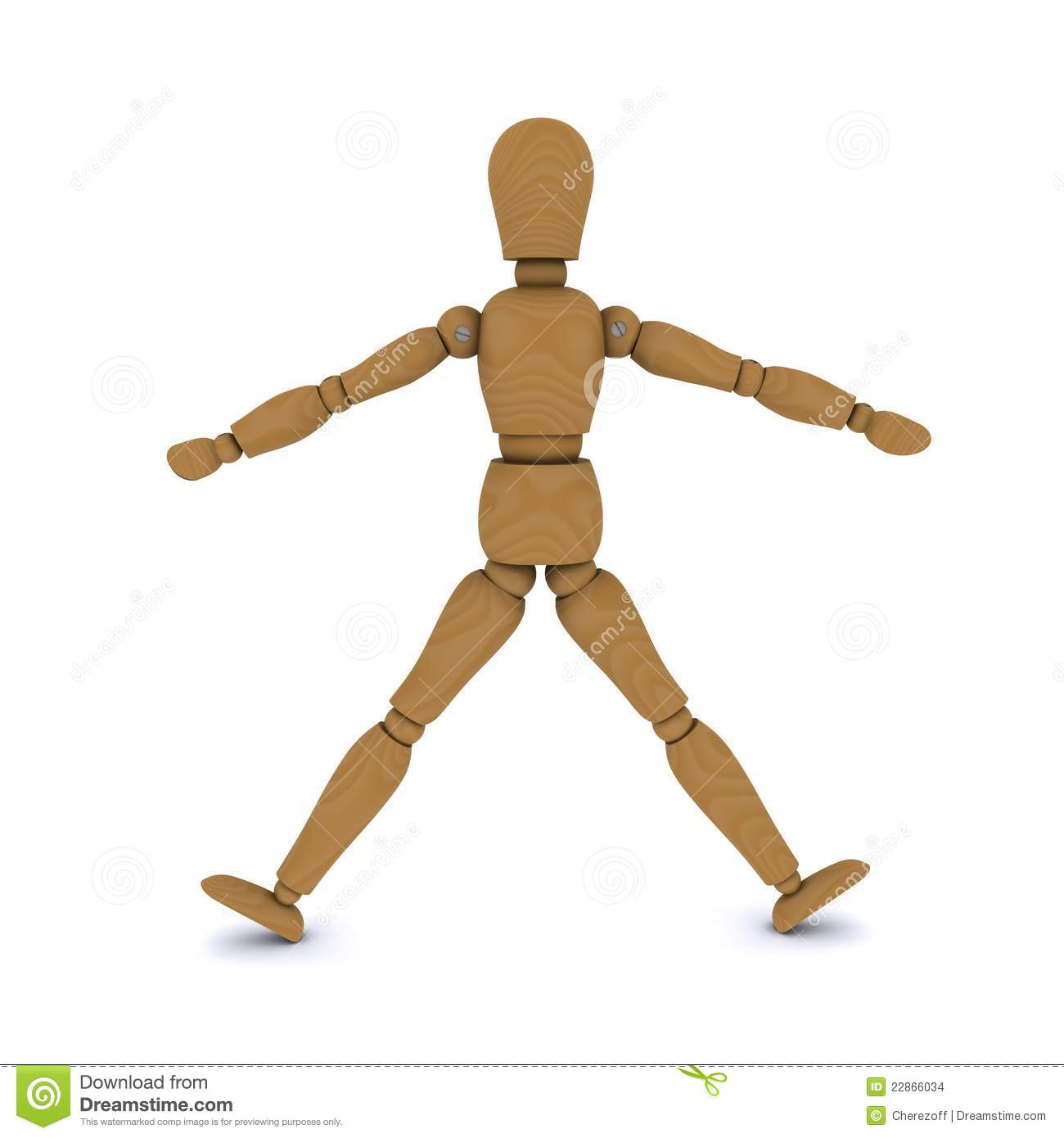 Stock Images Wooden Doll Stands Arms Legs To Side Image22866034 on Wood Doll Furniture Plans