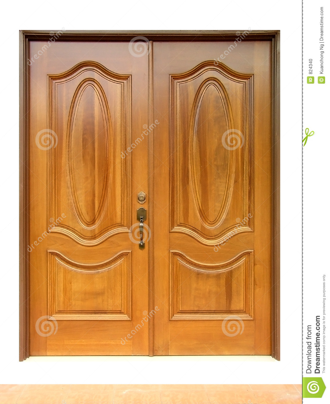 Nice Front Doors Wooden Door Stock Photo Image 824340