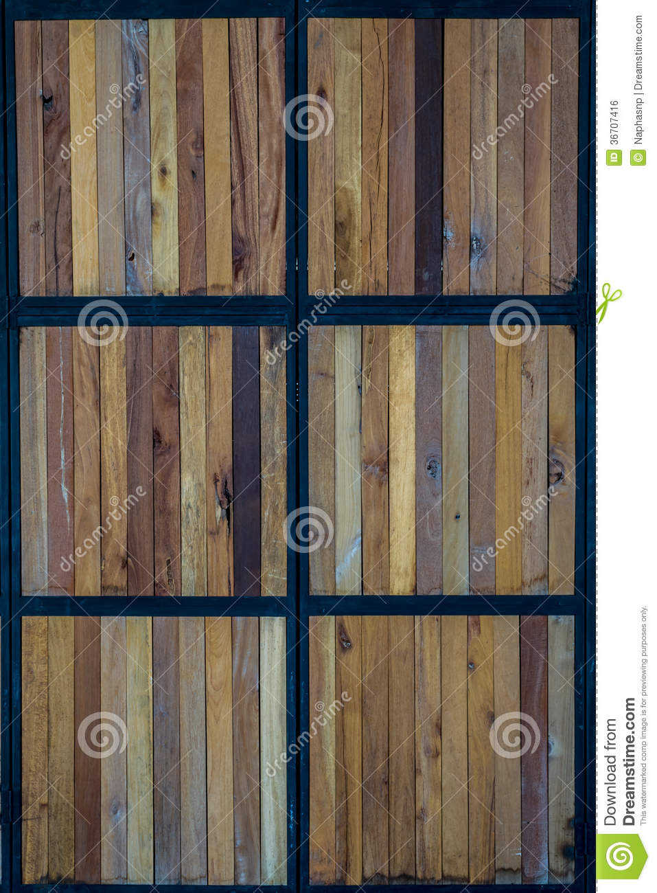 Wooden Door Royalty Free Stock Image - Image: 36707416