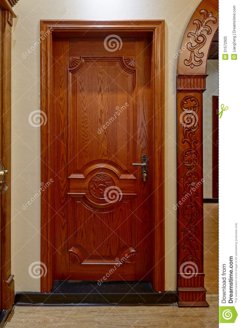Wooden door stock image image of framework house exit for Beautiful wooden doors picture collection