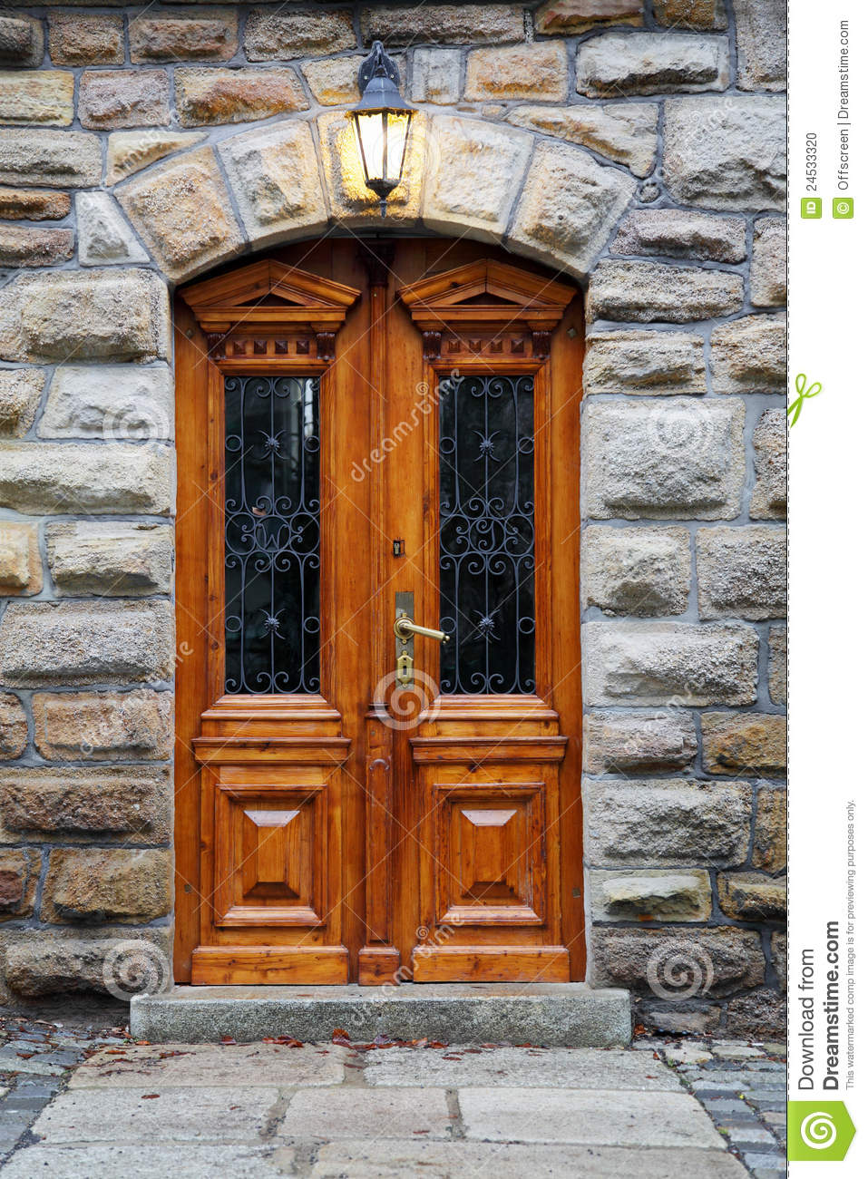 Wooden Door In An Old Mansion Stock Photo Image 24533320