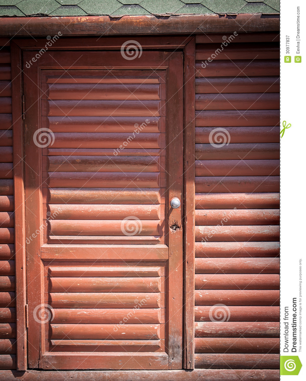Rustic wood frame front and back stock photo for Wooden back door and frame
