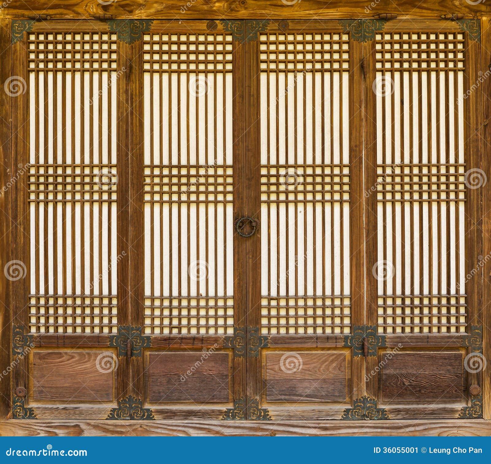 Wooden Door Stock Image Image Of Pattern Ring Korean
