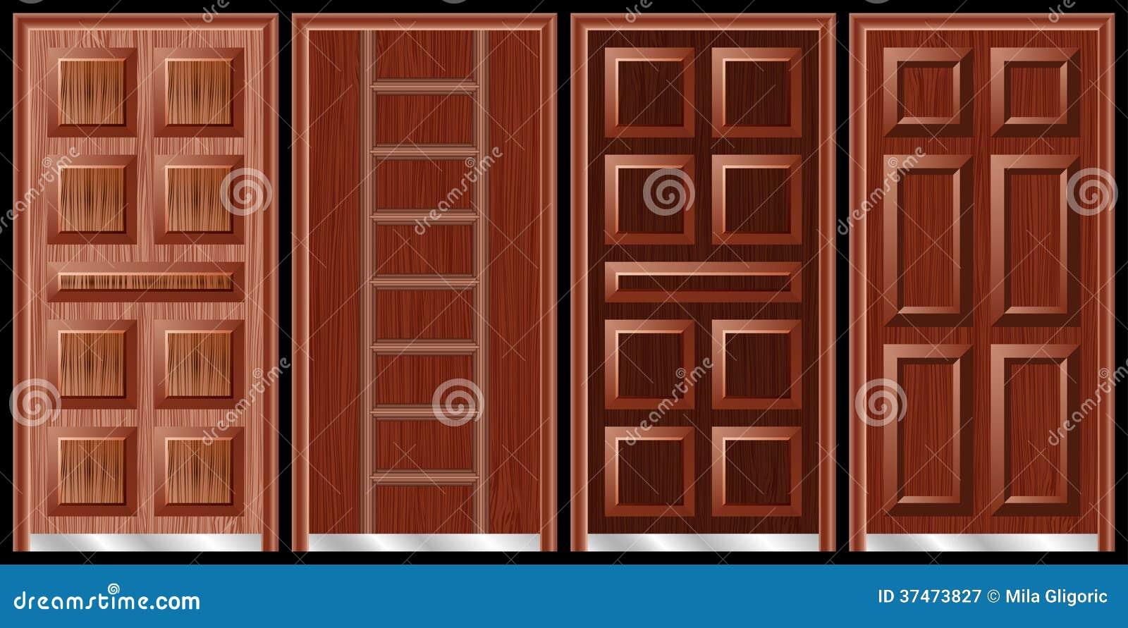 Wooden doors black royalty free stock photography image for Different door designs