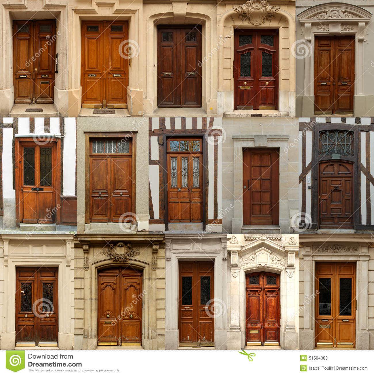 Wooden Doors Collage Stock Photo Image Of Architectural