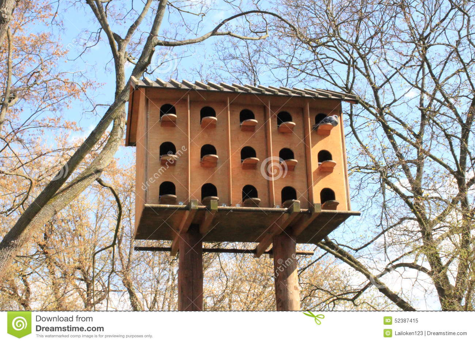 Wooden Dovecote Stock Photo Image 52387415