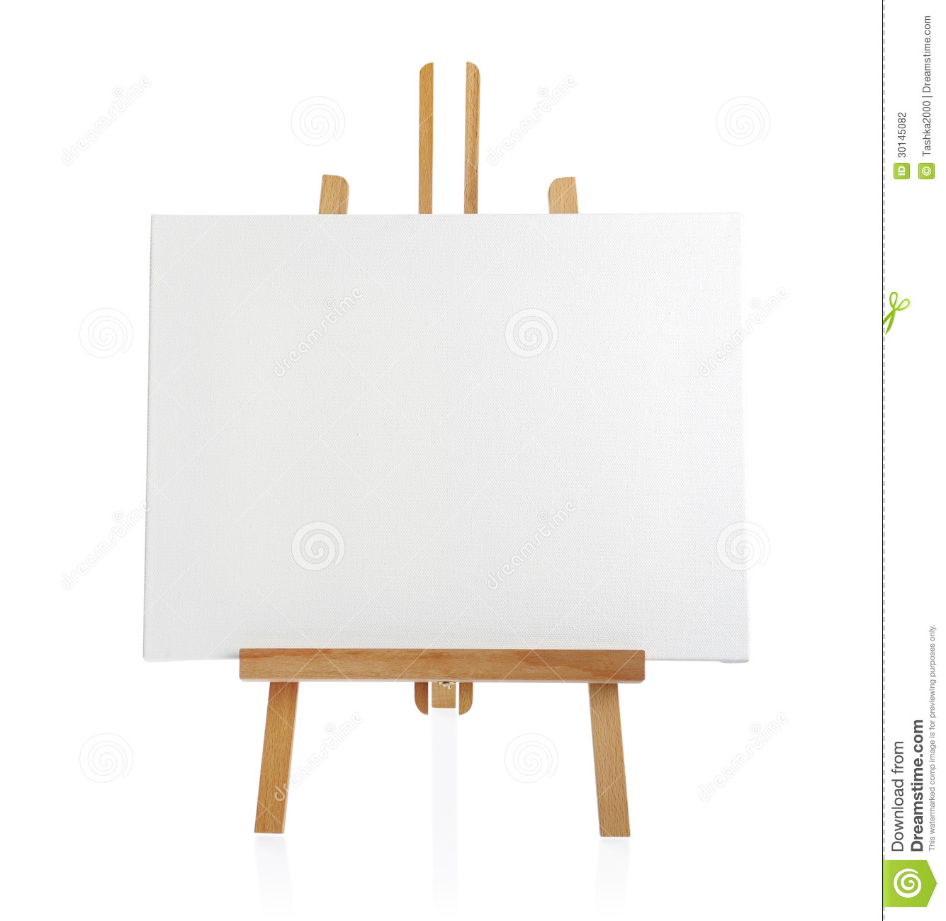 Wooden easel with blank canvas stock photo image 30145082 for What to do with a canvas