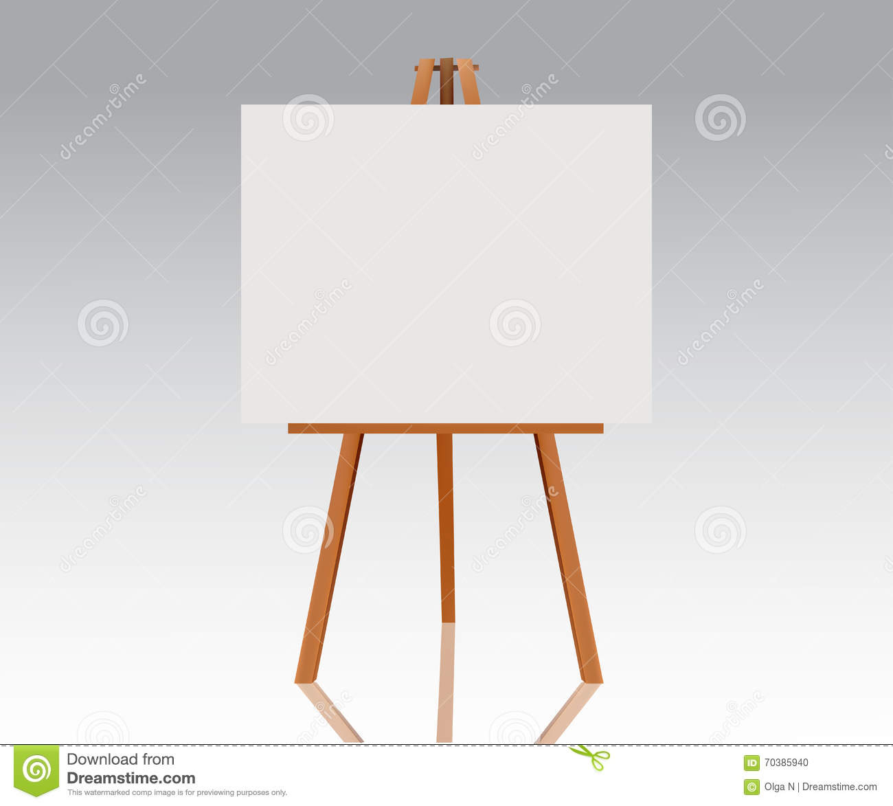 Blank Space: Wooden Easel With Empty Canvas. Blank Space Ready For Your