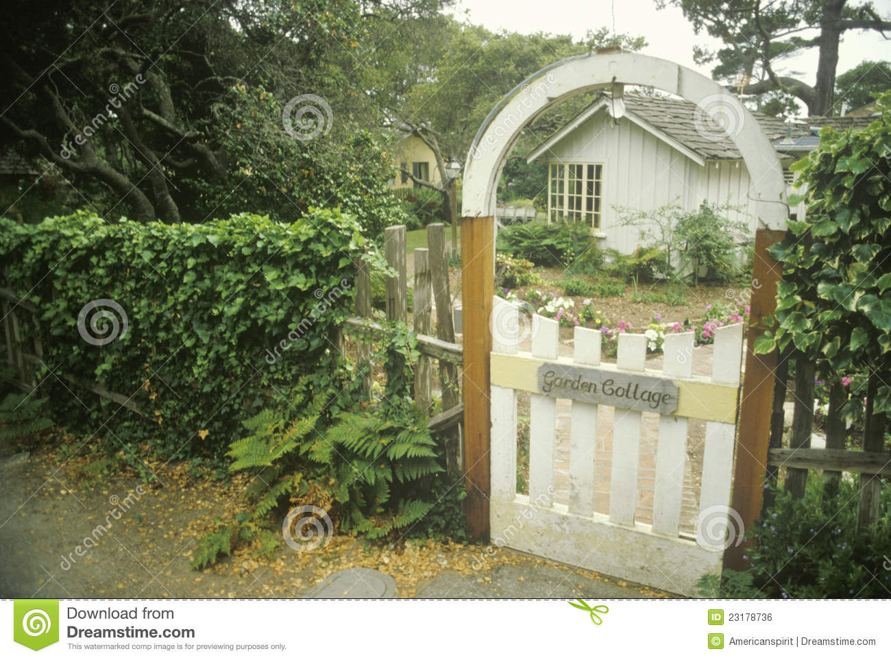 Wooden entry gate