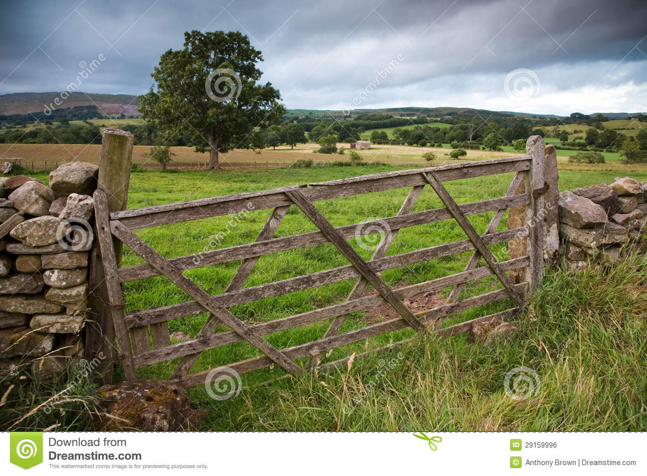 Wooden farm gate england stock photo image of great