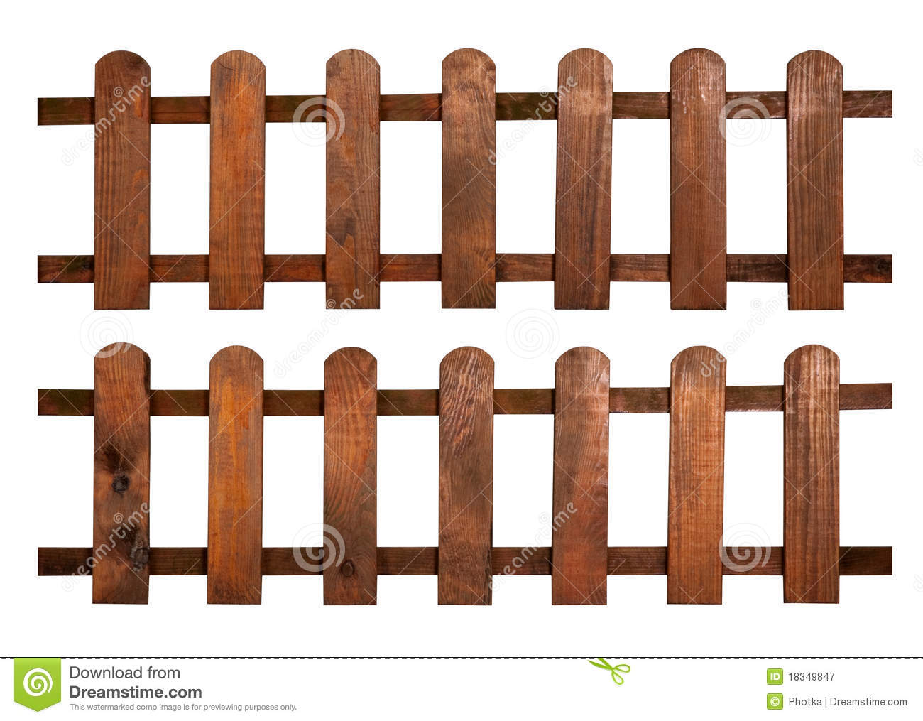 Farm Fence Clip Art Wooden fence isolated on white