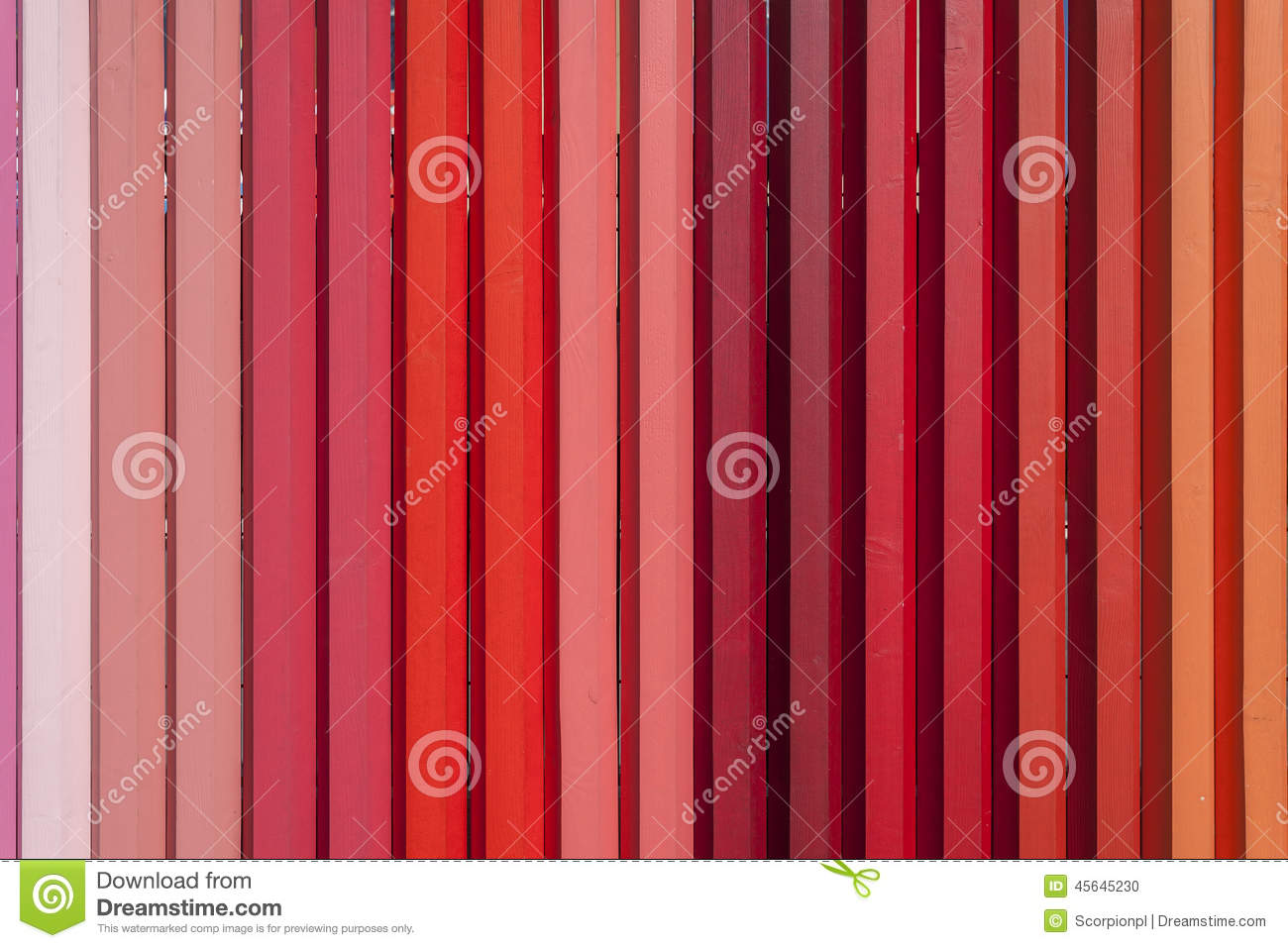 wooden fence colored in shades of red stock photo image 45645230