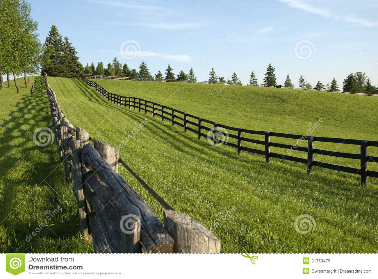 Wooden Fence In The Country Royalty Free Stock Images