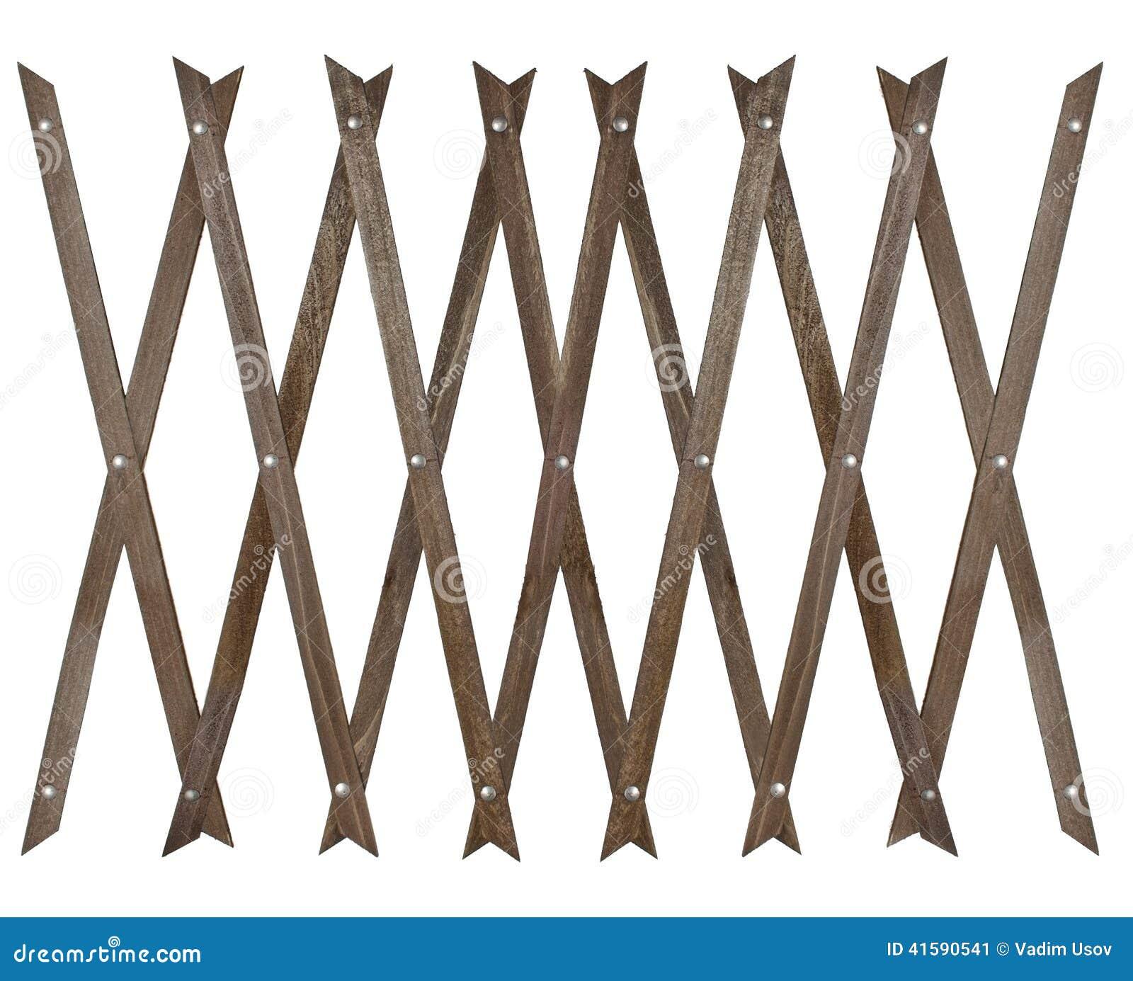 Wooden fence for garden stock photo image 41590541 - Cercas para jardin ...