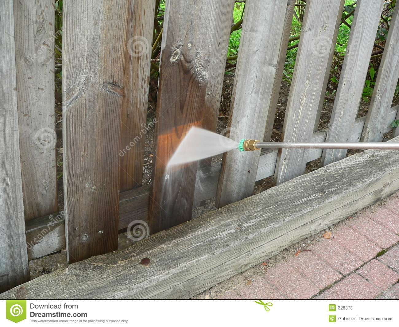 Wooden Fence Power Wash
