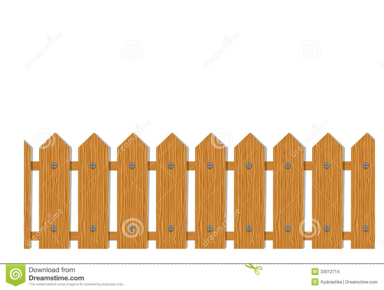 Wooden Fence Seamless Pattern For Your Design Stock Images - Cartoon fence clip art