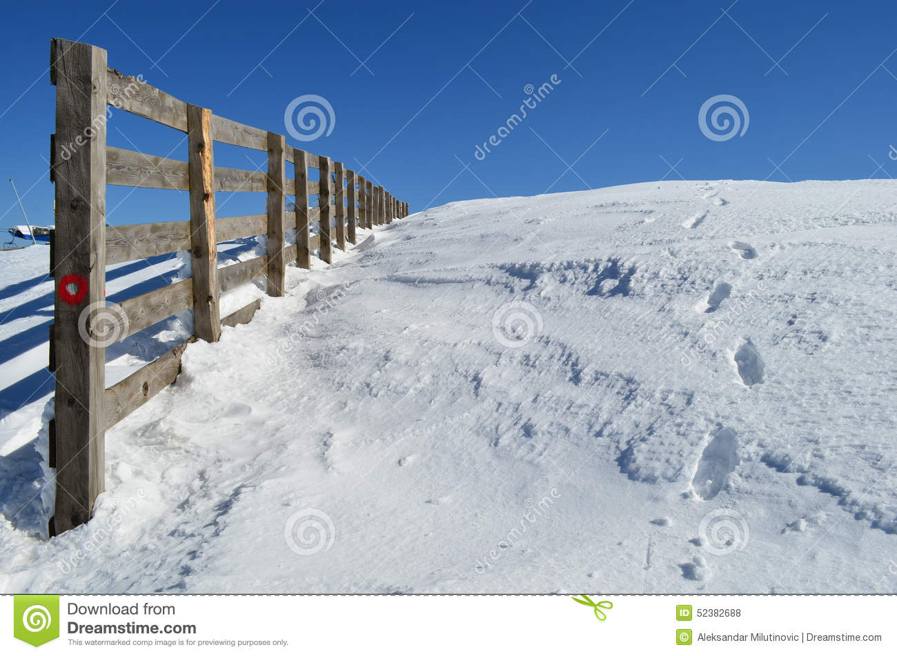 Wooden fence stock photo image