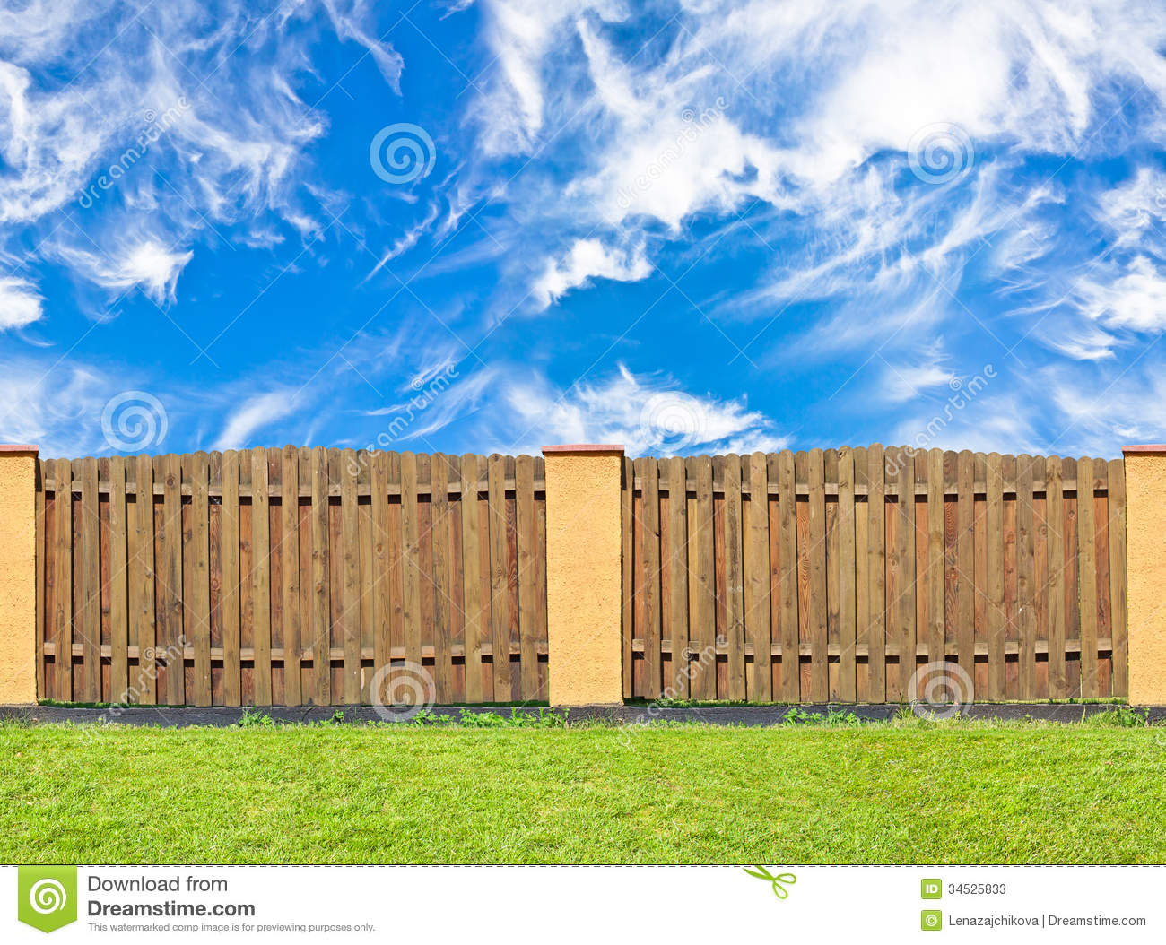 Wooden Fence Stock Image Image Of Azure Blue Board