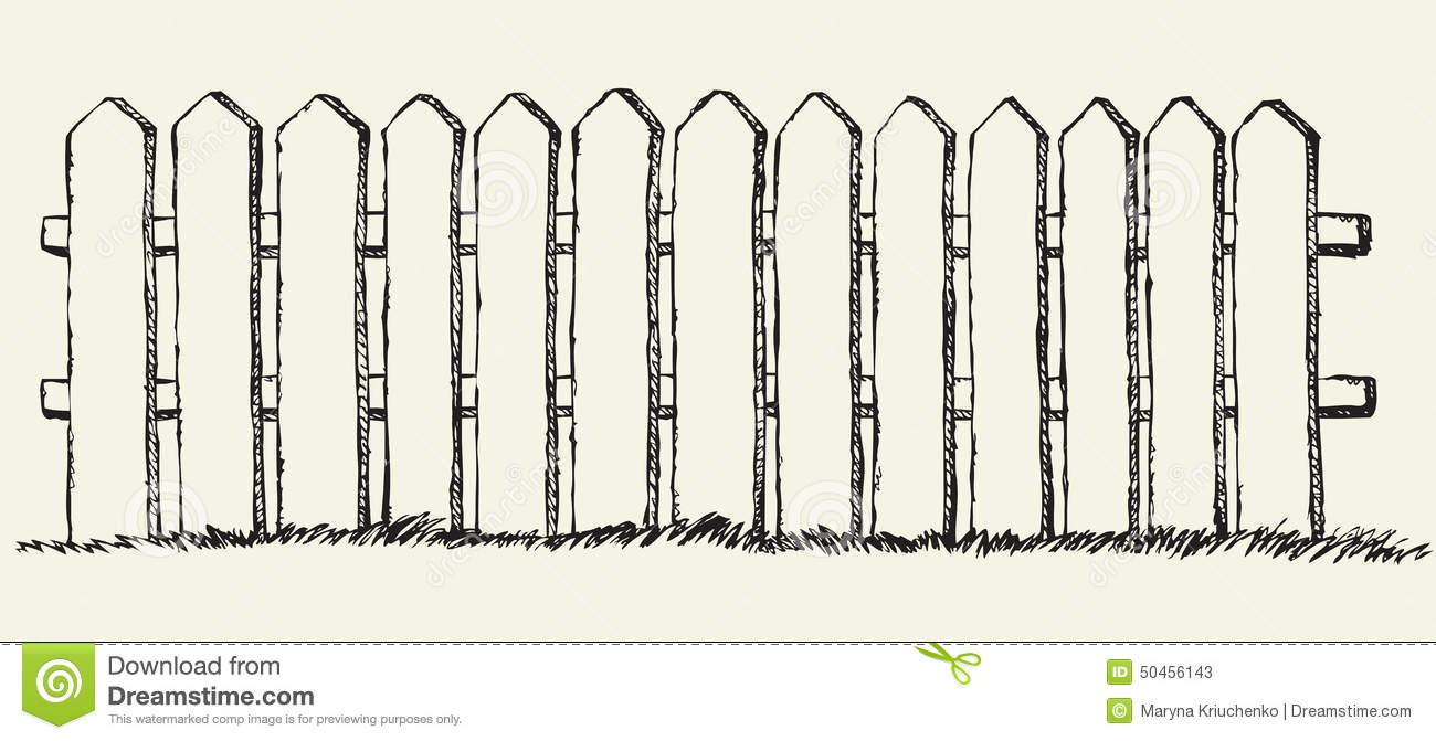 This is a graphic of Sassy Picket Fence Drawing
