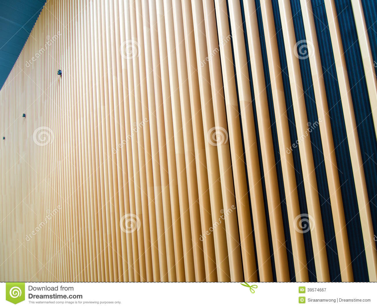 Wooden Fin Facade Stock Photo Image 39574667