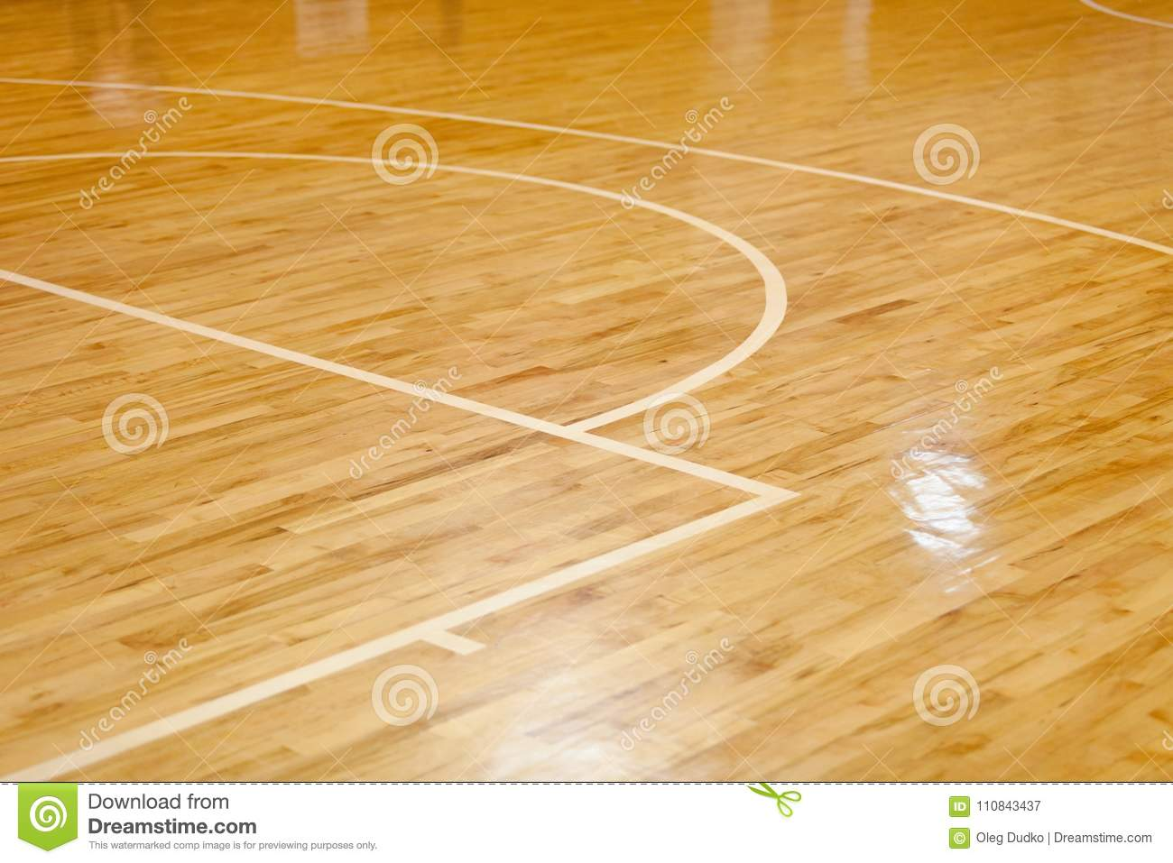 Wooden Floor Of Basketball Court Stock Image Image Of