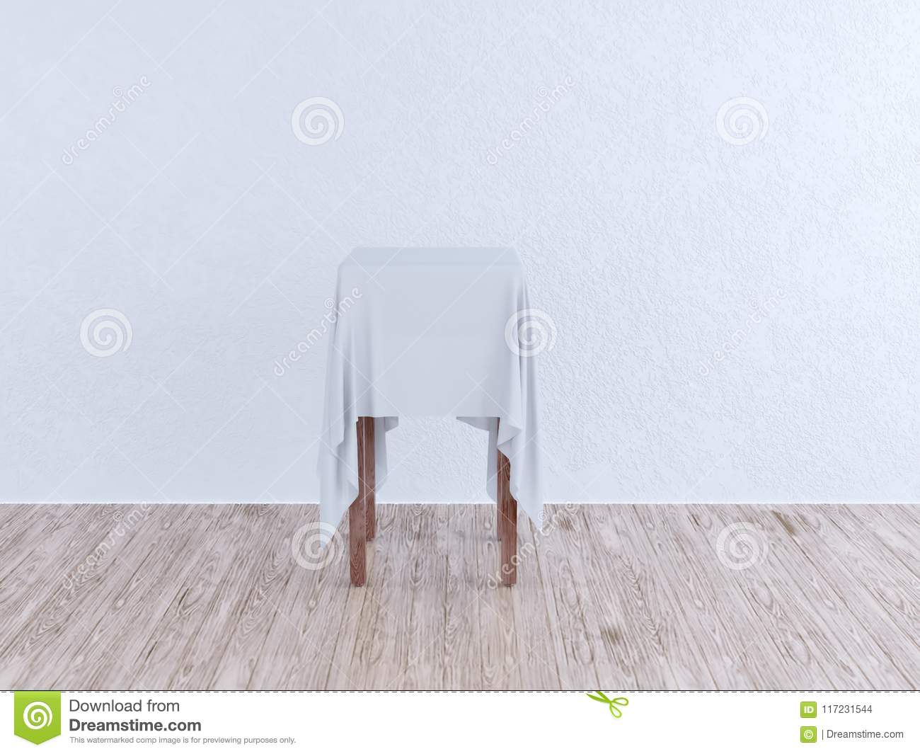 Corner Exhibition Stands Day : Wooden floor and light background art concept for an exhibition