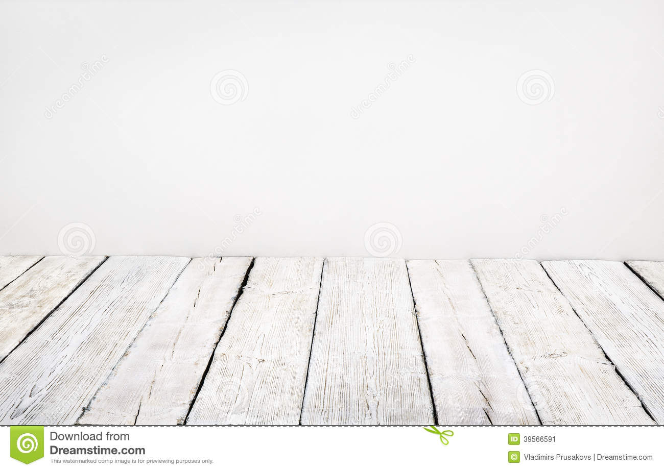 Wooden Floor Old Wood Plank White Board Room Interior