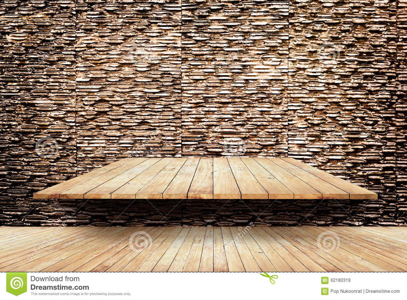 brick modern wall and floor background and texture stock photo